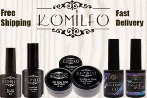 Komilfo-Gel-LED-UV-Nail-Polish-Rubber-Base-Matte-Top-No-Wipe-Top-Coat-BEST-PRICE