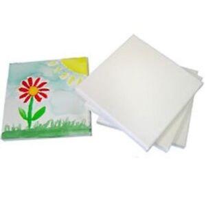 paquete de 6 Placa De Arte Artista Lienzo en Blanco Llano Pintura estirada Enmarcado Blanco