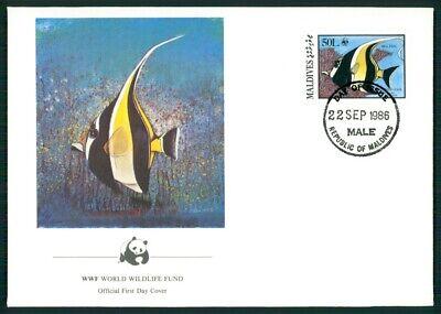 Kenntnisreich Malediven Schmuck-fdc 1986 Wwf Fauna Fische Fish Halterfisch Em03 SorgfäLtige FäRbeprozesse