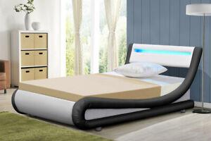 Bed Frame Single Size Black White