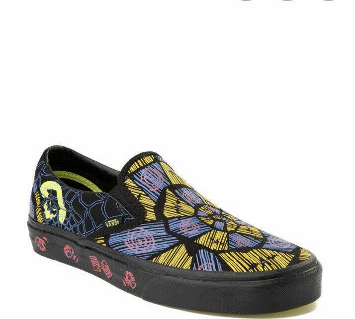Vans x Disney Nightmare Before Christmas Oogie Boogie Slip-On Shoes Sz 3.5 M 5 W