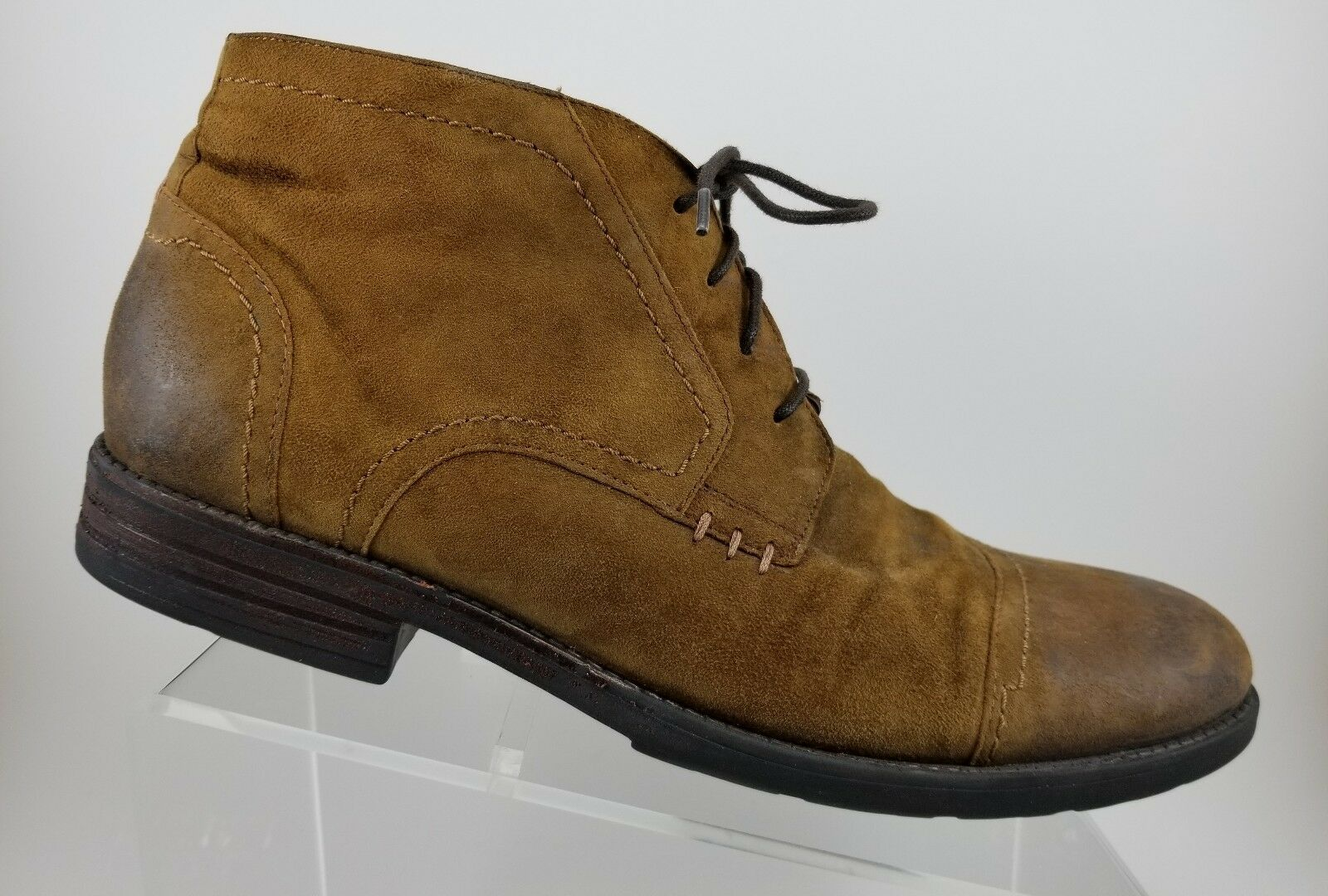 Clarks Distressed Brown Leather Lace Up Chukka Ankle Boots Mens 12M 67893