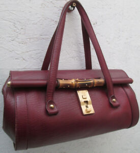 950fc0773b09 AUTHENTIQUE sac à main GUCCI cuir TBEG vintage bag   eBay