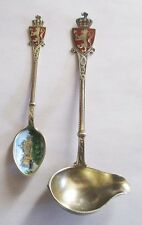 Souvenir Spoon & Ladle Norway Enamel National Theatre Aksel Holmsen Sterling 925