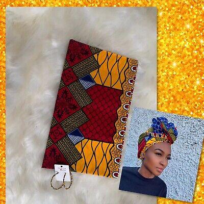Ankara Print African Head Wrap Hair Accessory Turban With Matching Hoops Ebay