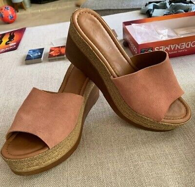 Mila Paoli sandals wedges Pink suede