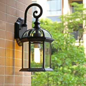 Details About Outdoor Waterproof Wall Lamp Balcony Garden Lights Gl Shade Sconce