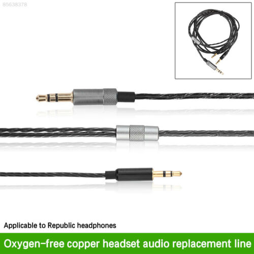 12E9 3.5mm Port Audio Cable Upgrade Replacement For SOL Republic Headphone Black