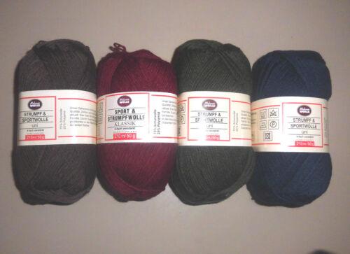 da Kleinunter 100g € 4,50 50 g Sockenwolle  Gem § 19 UStG kein MwSt-Ausweis