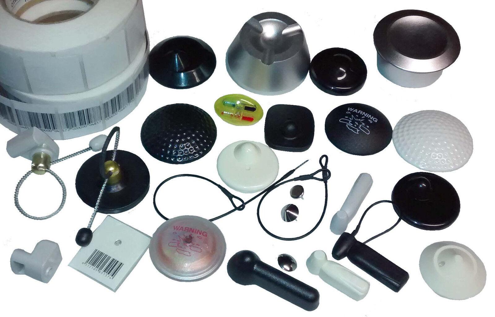 100 Stahlschlaufen 200mm zwei Ösen schwarz Warensicherung Artikelsicherung EL001