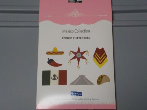 QUICKUTZ MEXICO COLLECTION COOKIE CUTTER DIES NEW NIP CHILI PEPPER SOMBRERO A3