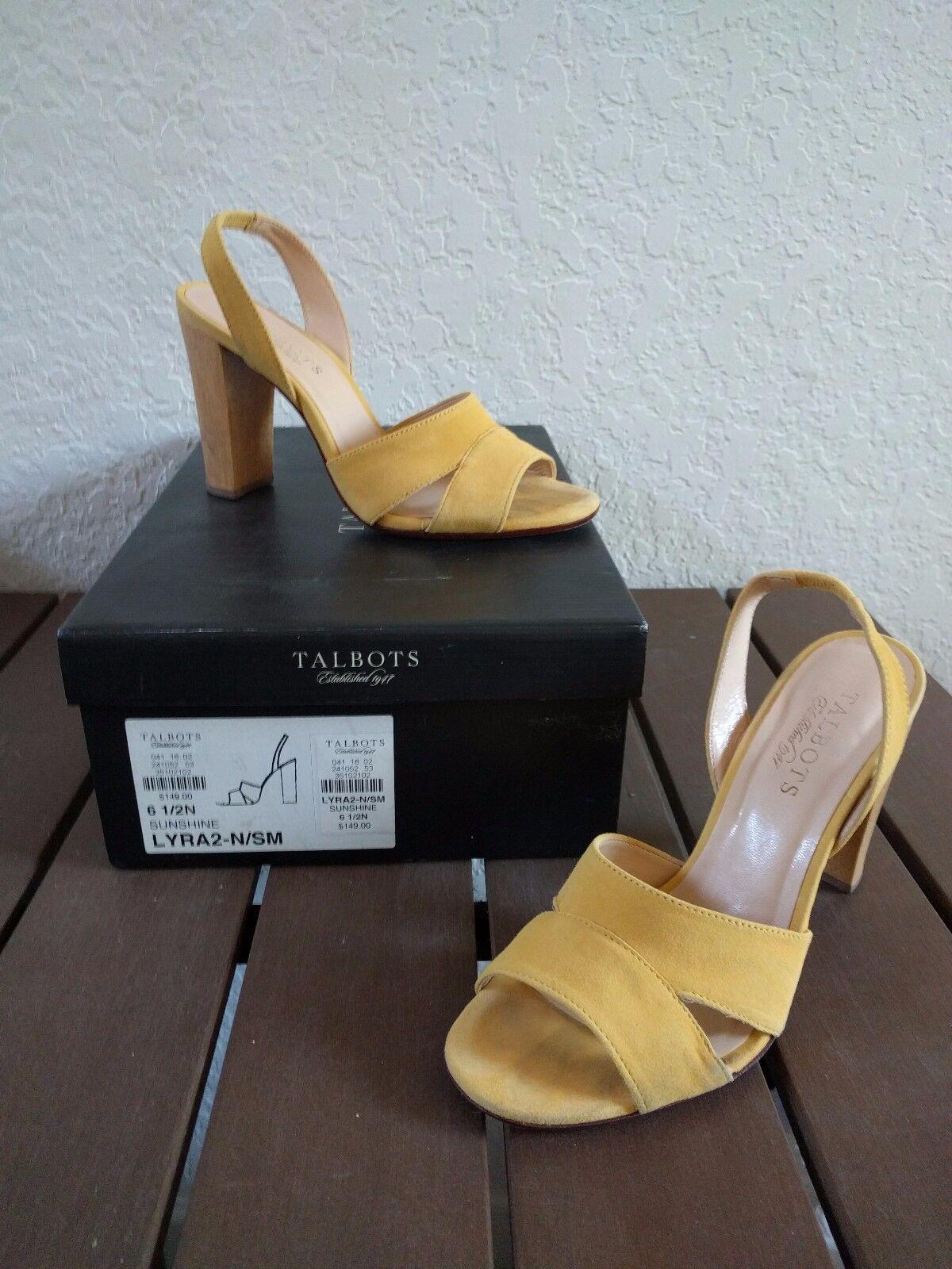 Talbots Damen Lyra2 Sunshine Gelb Sandalen mit Absatz 6.5 Aa Schmal