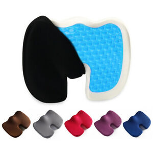 Memory Foam Cooling Gel Seat Cushion Coccyx Tailbone Car Chair Pillow Orthopedic