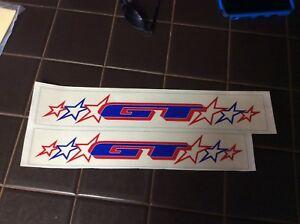 GT Freestyle tour Bikes BMX vintage NOS Genuine Decals//Stickers Old School