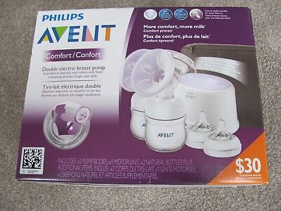 Brand New Philips Avent Double Electric Comfort Breast Pump Scf334
