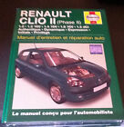 RENAULT CLIO II 2 Phase 2 Essence Diesel Manuel Revue Technique HAYNES