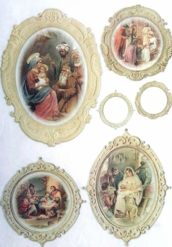 Rice Paper for Decoupage Decopatch Scrapbooking Sheet Craft Vintage Holy Family