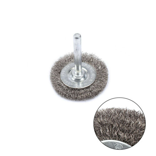 """5Pc 3/""""Stainless Steel Wire Brush With 1//4/"""" Shank For Metal Polishing Rotary Tool"""