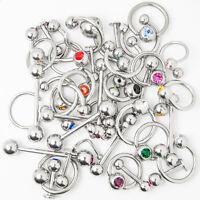 Wholesale Body Jewelry - 40 Mixed 316l Steel - Lip, Ear, Nipple, Tongue