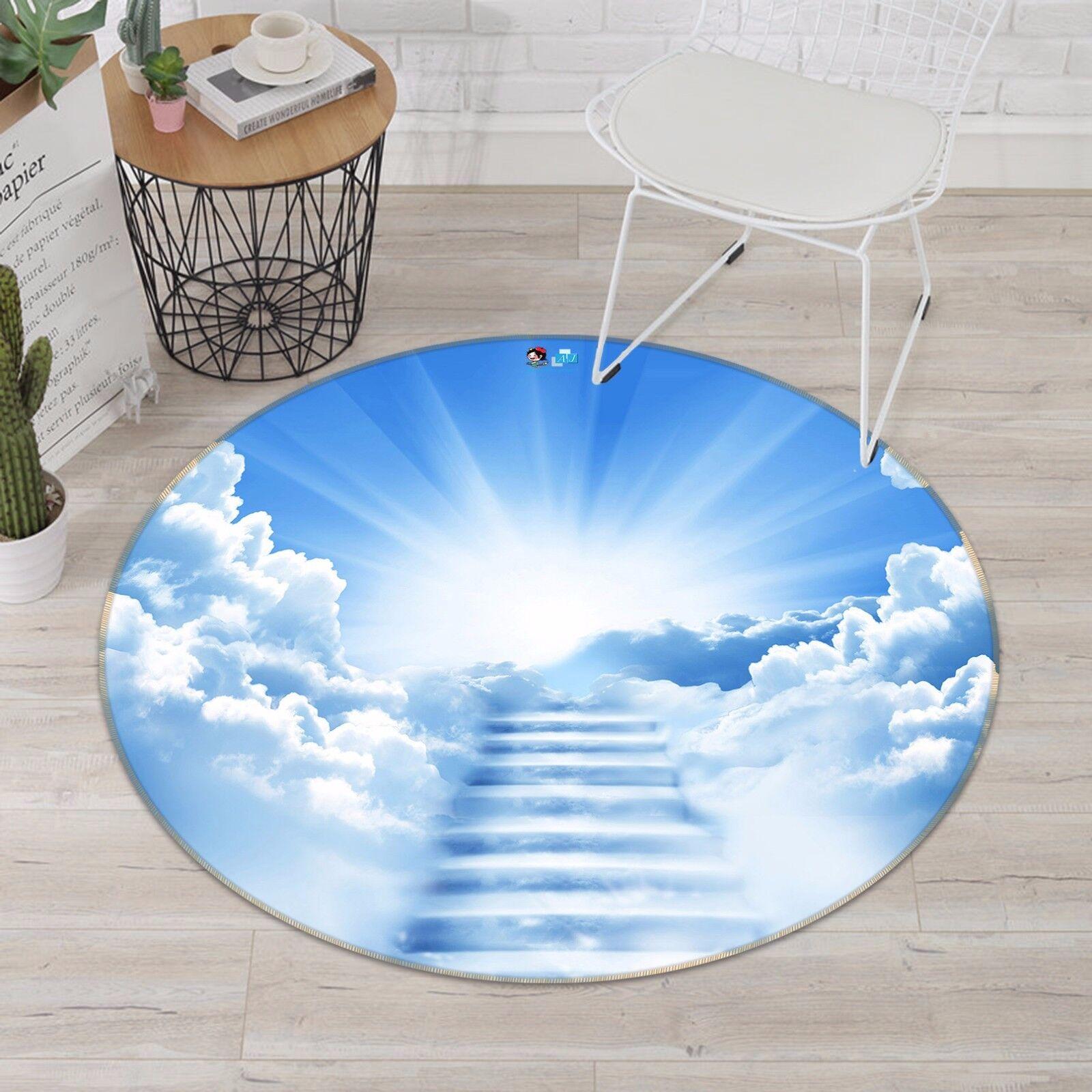 3D Cloud Stairs 45 Non Slip Rug Mat Room Mat Round Quality Elegant Photo Carpet