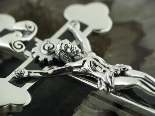 Gothic grandes cadenas de plata colgante cruz Jesús inri 925er plata maciza