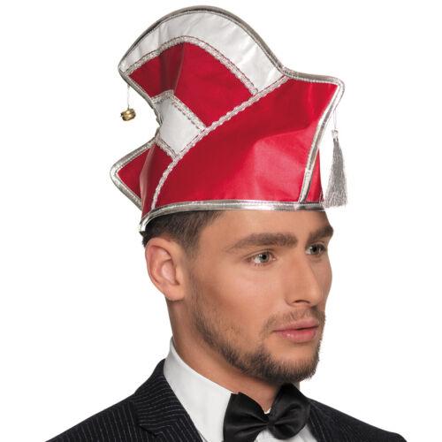 Prinzenmütze Komiteemütze Rot-Weiß Prunkmütze Elferrat Mütze Komitee Narrenkappe
