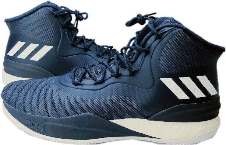 Adidas D pink 8 VIII Derrick pink NWOT Men's 17 bluee White Basketball shoes