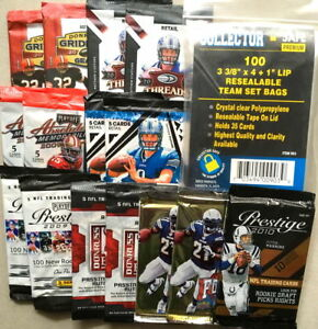 Lot-15-packs-NFL-foot-americain-US-cartes-de-collection-trading-cards-boosters