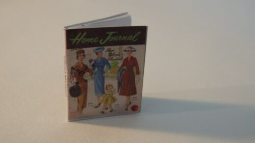 Miniature Vintage  /'Sewing/' Magazine  Dollhouse 1:12 IGMA OPENING PAGES
