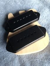 P-90 Pickup Dogear Cover Set-2 Black for Gibson Les Paul ES-175 ES-225 Project
