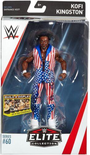 WWE KOFI KINGSTON USA Accessori Elite Series 60 Action Figure Wrestling Mattel