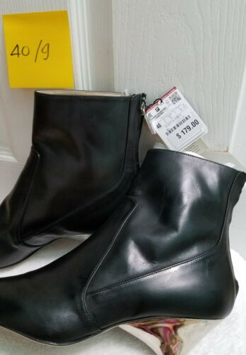 5120//101 ZARA LAMINATED LEATHER HIGH HEEL ANKLE BOOTS EUR 37-40 US 6.5-9 REF