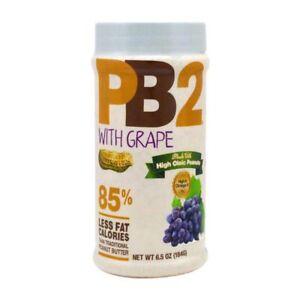 Bell Plantation, PB2, Powdered Peanut Butter Grape,(184 g) Certified Gluten-Free