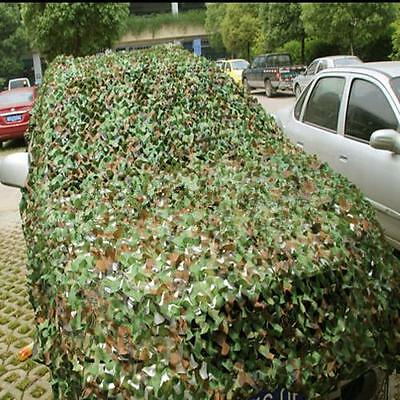 2M x 3M Camouflage Net Woodlands Leaves Camo Cover For Hunting Camping cmk