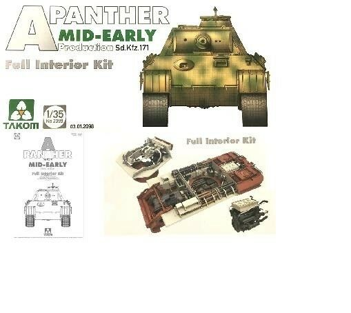 Char Allemand PANTHER A (Sd.Kfz 171) - KIT TAKOM INTERNATIONAL 1 35 n° 2098
