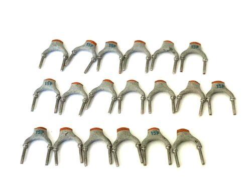 NPO 15pf 100v 2/% 2222 683 34159 rm5 Philips Ceramica Condensatore 19 pezzi