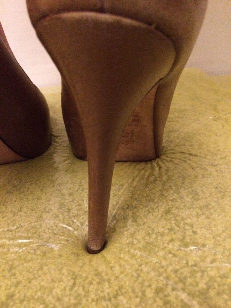 Femmes en cuir marron taille 6 Plateforme 5