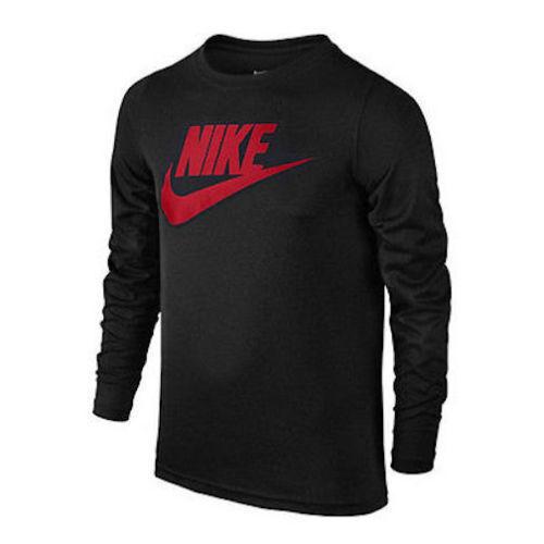 95d528e12e9c Sz Small Nike Mens Futura Icon Athletic Long Sleeve Tee T-shirt Black  943247-010 for sale online
