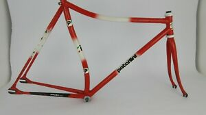 Rare-Vintage-PATERLINI-Low-Pro-Track-Steel-Frameset-53-53cm-650-700c