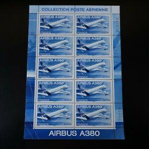 Feuille-Sheet-Stamp-post-Aerial-Pa-N-69-x10-2006-Neuf-Luxe-Mnh