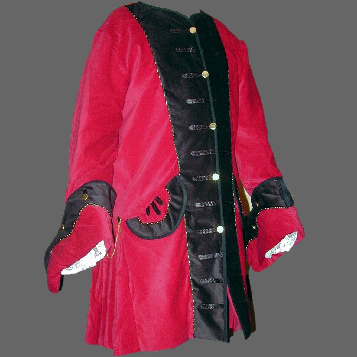 Pirates Pirates Pirates Veste 3 Couleurs Rouge ingote moyen âge Veste Femmeteau moyen âge Veste S-XXXL 54cad2