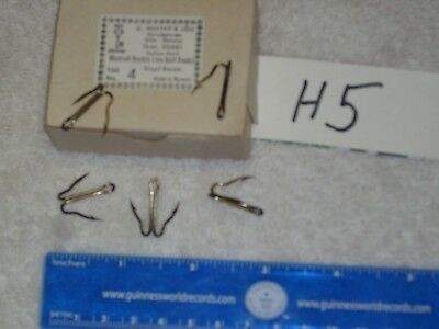 Norway Mustad Live Bait Safety Pin  Hooks Size 4//0 5 pieces H-318