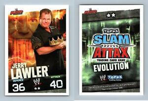 Jerry Lawler-Wwe Slam Attax evolución 2009 tarjeta de Topps TCG