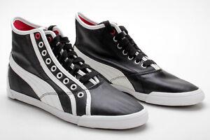 Details about Puma Shoes Crete Mid L Black White Red 349526 03 * R show original title