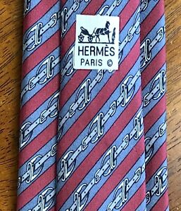 Guaranteed-Authentic-HERMES-Silk-Paris-Necktie-MADE-IN-FRANCE-100-Heavy-Silk