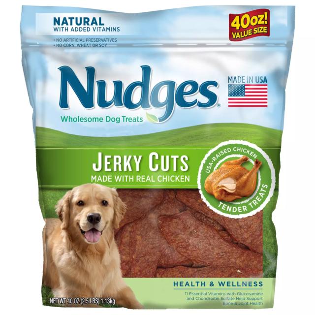 Nudges Health & Wellness Chicken Jerky Dog Treats, 40 oz.