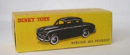 Repro Box Dinky Nr.24B Peugeot 403 Berline blau und schwarz