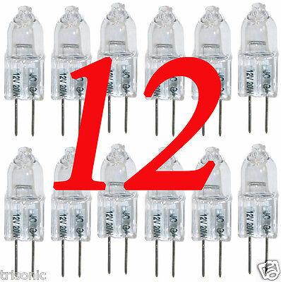 JC Quality 12 Volt 20 Watt HALOGEN CLEAR CAPSULE LIGHT BULB G4 BASE Bi-Pin Lamp