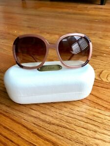0a31e2dddfb Image is loading chloe-pink-blush-sunglasses-with-case-excellent-condition