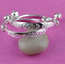 BABY/REBORN BABY DOLL/OOAK BRACELET/BANGLE SILVER PLATED WITH BELLS